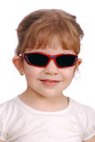 Little girl with sunglasses Stock Images