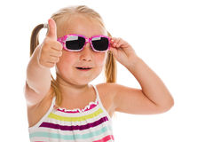 Little girl in sunglasses Royalty Free Stock Photos