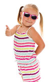 Little girl in sunglasses Stock Photos