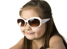 Little girl with sunglasses Stock Photography