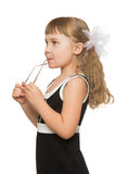 Little girl in sunglasses Stock Images
