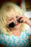 Little girl with sunglasses Royalty Free Stock Photos