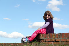 Little girl with sunglasses. Cute little girl with sunglasses Royalty Free Stock Image
