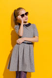 Little girl in sunglasses Royalty Free Stock Images