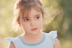 Little girl in sunlight Royalty Free Stock Image