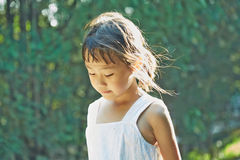 Little girl in the sunshine Royalty Free Stock Image