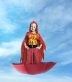 Little girl superhero Royalty Free Stock Photography