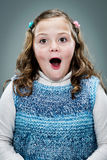 Little Girl with Surprise Expression Royalty Free Stock Photos