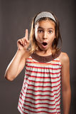 Little girl with surprise expression Stock Photo