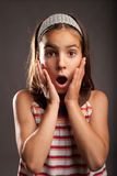 Little girl with surprise expression Royalty Free Stock Photo