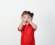 Little girl surprising. Royalty Free Stock Photos