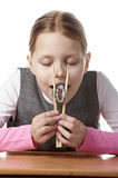 Little girl with sushi Royalty Free Stock Images
