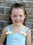 Little Girl After Swimming royalty free stock images