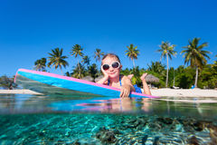 Little girl swimming Royalty Free Stock Photos