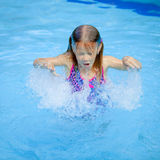 Little girl in the swimming pool Stock Photos