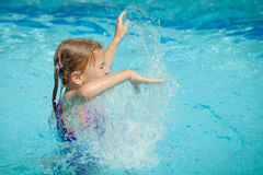 Little girl in the swimming pool Stock Image