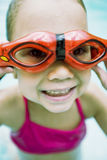 Little girl in swimming pool Stock Photography