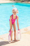 Little girl at swimming pool Royalty Free Stock Image