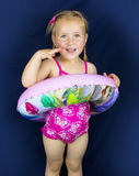 Little girl with swimming rubber Stock Photo