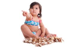 Little girl in swimming suit Royalty Free Stock Image