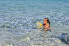 Little Girl Swimming Summer Royalty Free Stock Photo