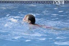 Little Girl Swimming Stock Photos