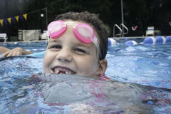 Little Girl Swimming 2 Royalty Free Stock Image