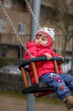 Little girl on a swing Royalty Free Stock Photography