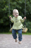 A little girl swinging Royalty Free Stock Photo