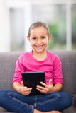 Little girl tablet computer Royalty Free Stock Photos