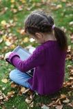 Little Girl tablet digital computer Stock Photos