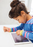 Little girl with tablet pc Royalty Free Stock Photos