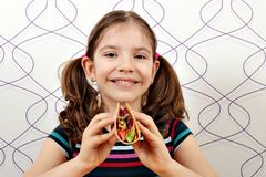 Little girl with tacos Royalty Free Stock Photo