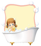 Little girl taking a bath Royalty Free Stock Image