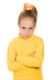 Little girl taking great offended Stock Images