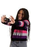Little girl taking selfie Stock Photography