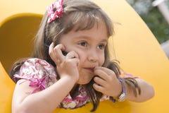 A little girl talking Royalty Free Stock Photos