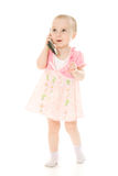 Little girl talking on the phone Royalty Free Stock Photo