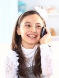 Little girl talking Royalty Free Stock Image
