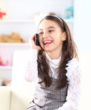 Little girl talking Royalty Free Stock Photos
