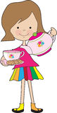 Little Girl Tea Stock Photography