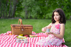 Little girl tea party Royalty Free Stock Images