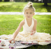 Little Girl, Tea Party Stock Photos