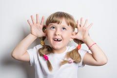 little girl teasing Stock Image