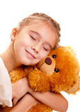 Little Girl And Teddy Bear Royalty Free Stock Image