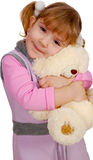 Little girl with teddy-bear Royalty Free Stock Photo