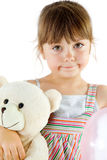 Little girl teddy bear Stock Photo