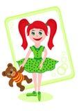 Little girl with teddy bear. Little nice girl with teddy bear Royalty Free Stock Photos