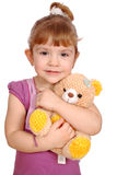 Little girl with teddy bear toy Stock Photo