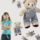 Little girl with teddy-bears Royalty Free Stock Image